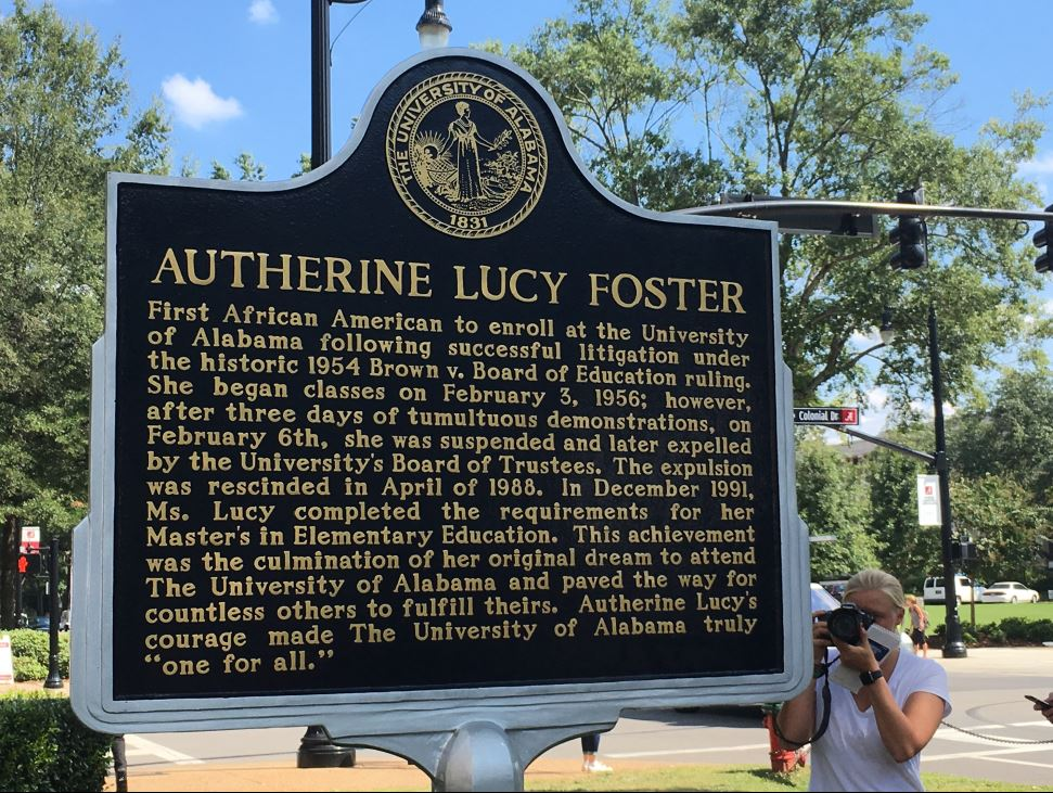 Autherine-Lucy-Foster-historic-marker
