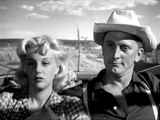 Kirk Douglas and Jan Sterling